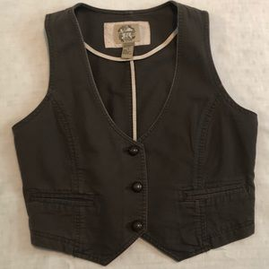 Forever 21 Vest with Brassy Buttons